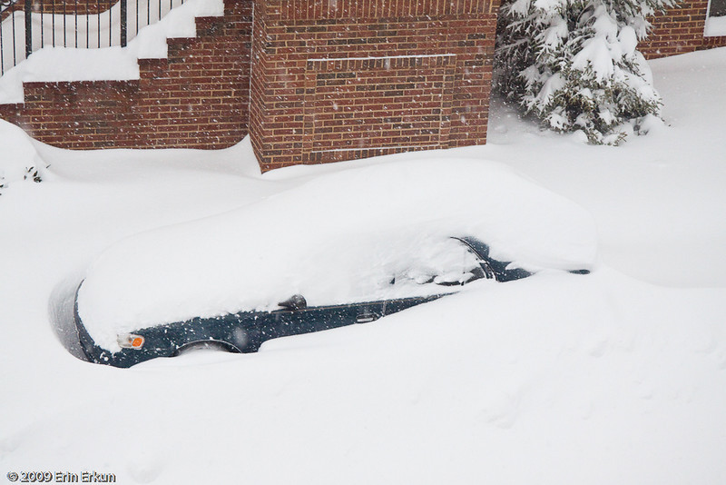 December 19, 2009: Blizzard of 2009<br /> Someone's going to have a hard time digging that car out!