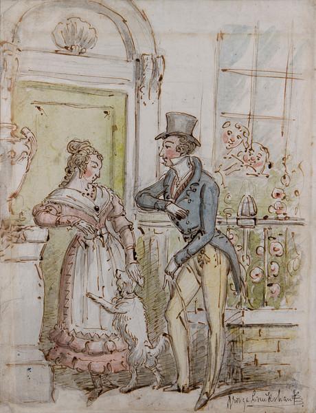 George Cruikshank drawing