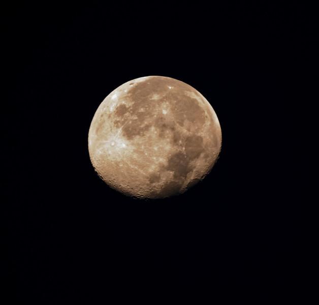 Moon over Scottsdale Arizona, October