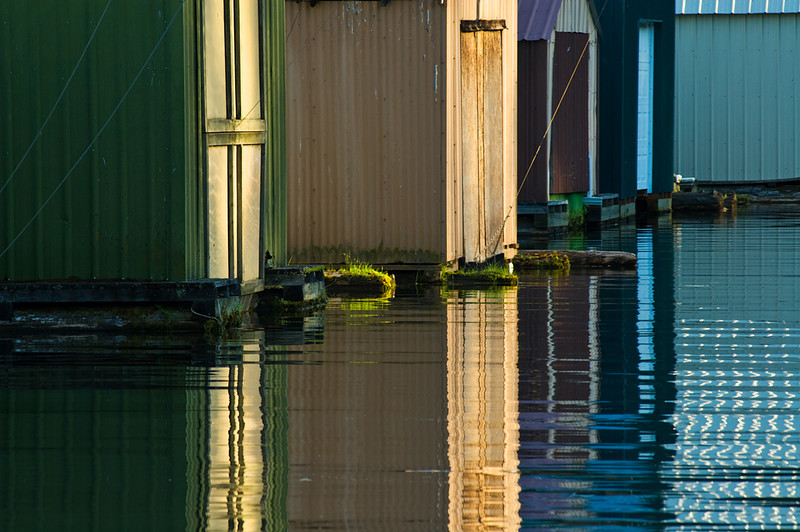 Boat Shacks Reflecting