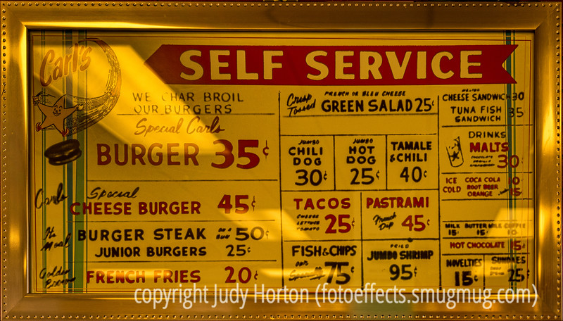 An Early Carl's Jr. Sign - Note the Prices