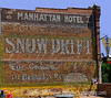 Painted Brick Wall on Building in Salida, Colorado