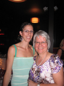 At Amy's wedding with Neala