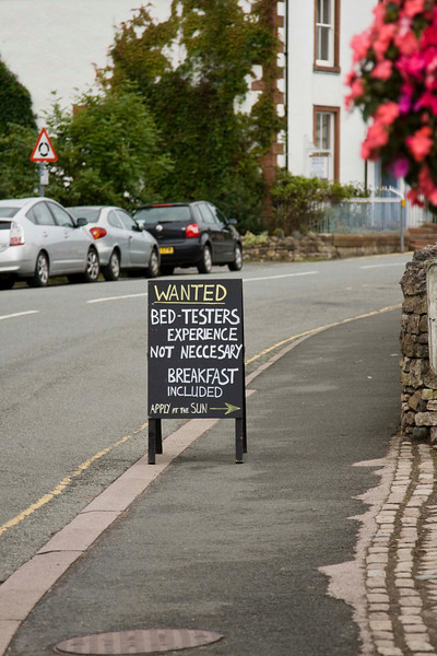 nice way to advertise bed and breakfast
