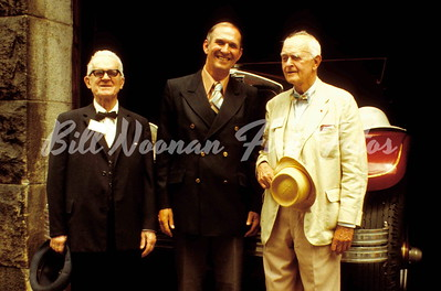 "Benn Ellis, Fire Commissioner George Paul and former fire Commissioner Russell Sturgis Codman...Ben was married to Russell's cousin...Ben asked how I liked Russell's ""ice cream suit""...."