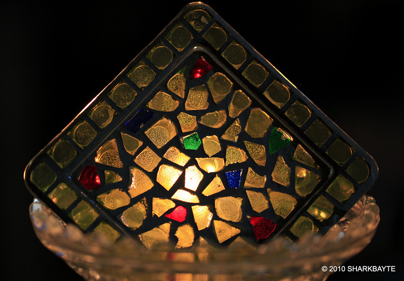Glass on glass with a candle behind it. Day 319 #365Project (2010.11.14) @sharkbayte