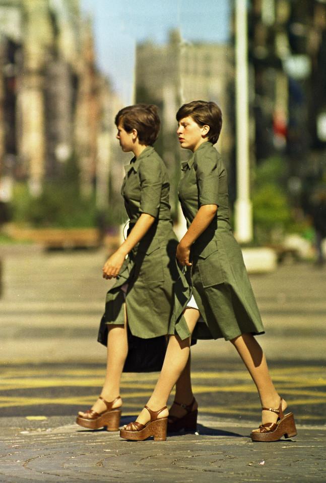 Sisters (1)  Argyle St., Glasgow, 1976