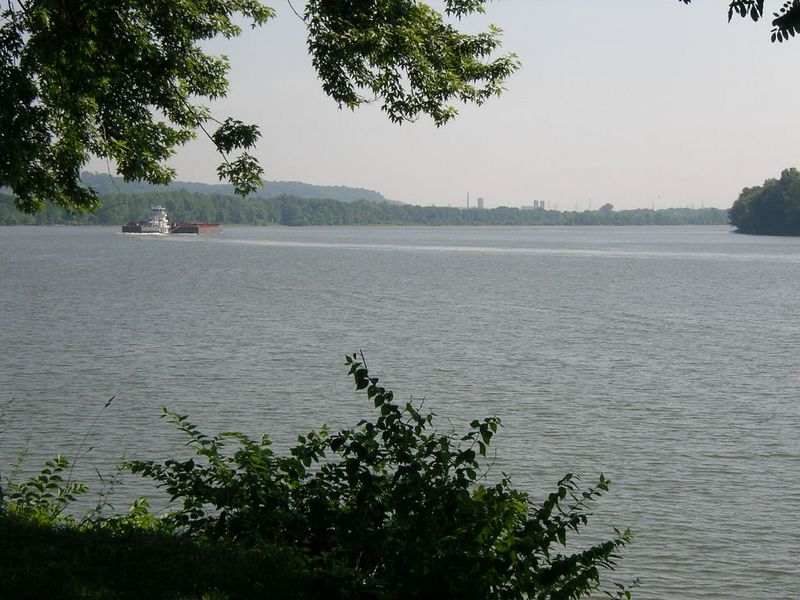Upstream view from launch