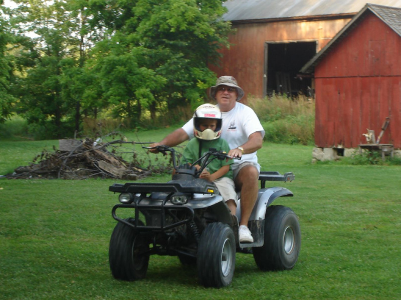 Ohio Visit <br /> Cole and Me, ATV\'n on the Farm