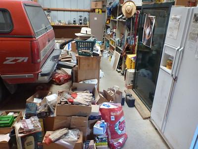 Inside Gerard's garage