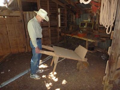 Wheel barrow made by Dan Taylor 70 years ago