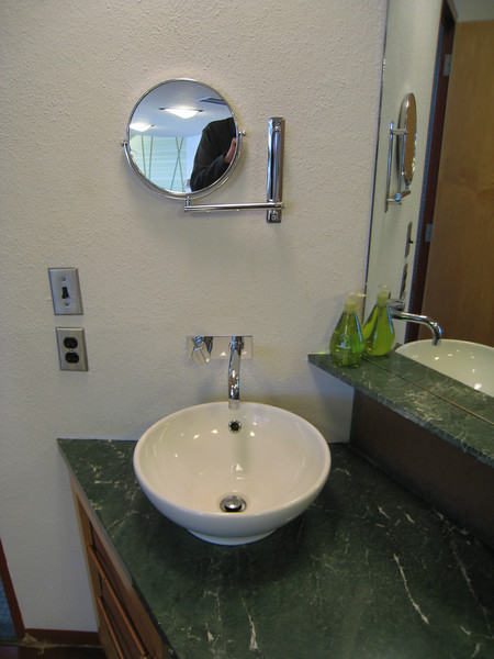 Cool sink in our room at the Inn at Price Tower. Room 134 (13th floor).