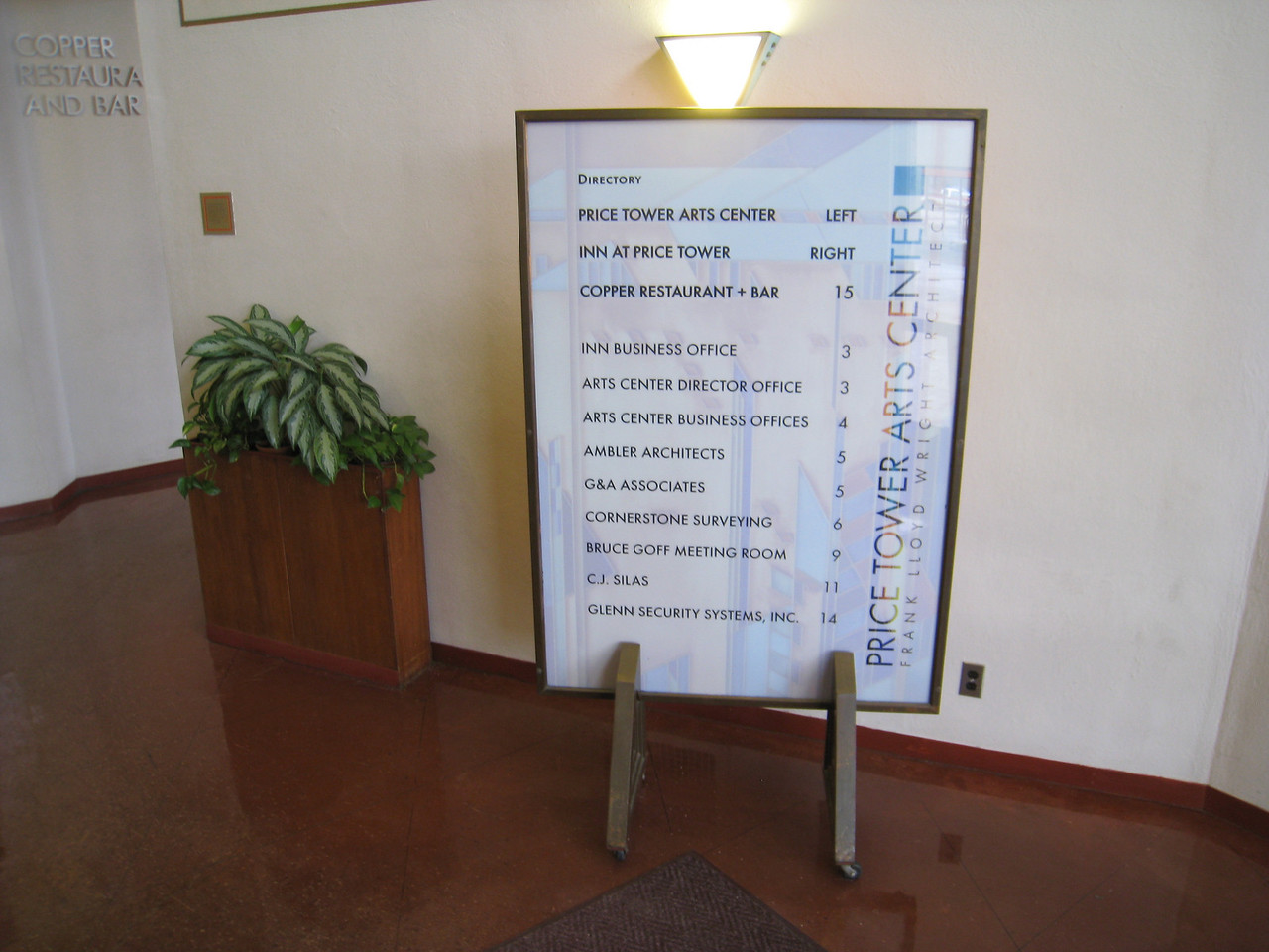 Price Tower directory