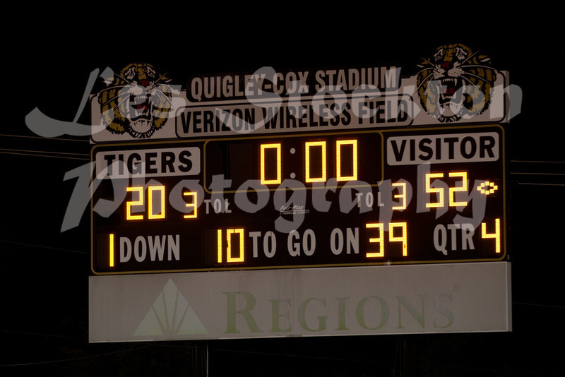55 to 20 was the final score, but they wouldn't update the scoreboard at the end.