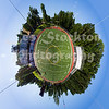 This was created from a 360 degree panorama of the football stadium.