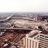 Construction of MARTA CW-140 looking west from Fairlie Street, past the Omni (now gone), toward Mangum Street, 1978.