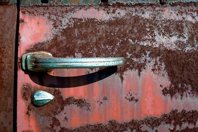 rusty car door