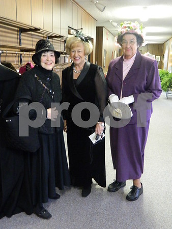 left to right: Edwina Eddy O Farrell, Bev Walker, and Marilyn Grather