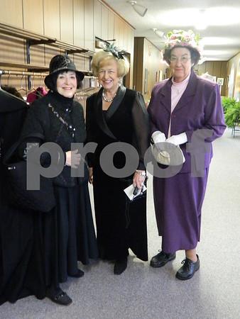 left to right: Edwina Eddy O Farrell, Bev Walker, and Marilyn Grather