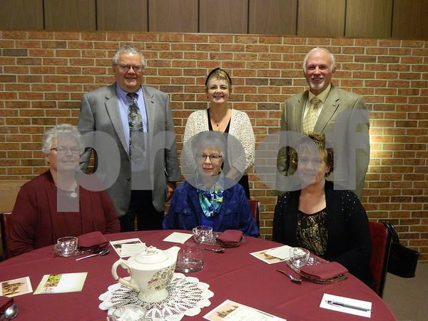 Left to right: Judy and Tom McLughlin, Rhonda Masser, Nancy Whaley, Karen and Richard Mason.