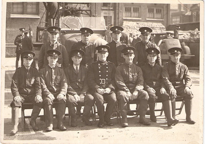 Charles Albert Prince (rear, second from right), London Auxiliary Fire Service (AFS) 1941/42?
