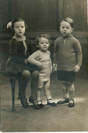 Phyllis, Brian & Peter Furnell, studio portrait circa 1937