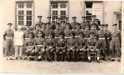 Sergeant Lewis Prince, RMP detachment, Osnabruck, Germany, circa 1963 (seated far left).