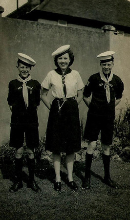 Brian and Peter (sea Scouts), Phyllis (Sea Rangers).