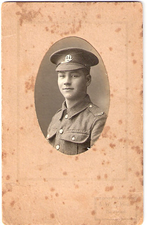 472816 Rifleman Percy Robert Prince 1/12th London Regiment (Rangers) - here as enlisted in 9th Battalion Middlesex Regiment.