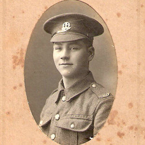 Private Percy Robert Prince in the uniform of the 9th Bn. Middlesex Regiment date unknown (probably circa 1915). Percy killed in action 9th April 1917, Neuville-Vitasse, first day of the Battle of Arras (serving then in 12th Bn. London Regiment (Rangers).