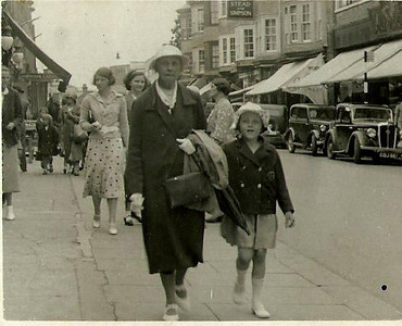 Emma Furnell (nee Baker) & Phyllis Furnell (later Prince), Paignton circa 1938.
