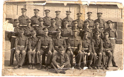 Lance Corporal Lewis Prince, Royal Military Police (location and date unknown but possibly after initial RMP training) centre row, third from the right.