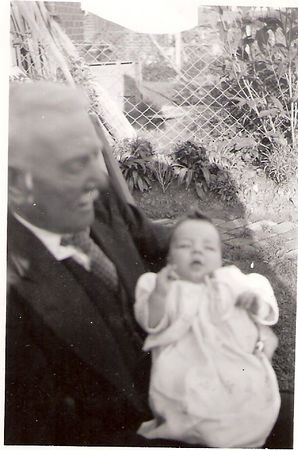 John Prince and his great-grandson David Prince in 1950.