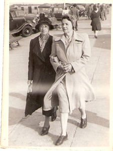 Florence Prince with her mother Flora Gear. Date unknown but Post WWII.