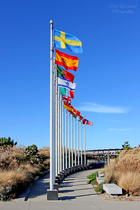 TWA Flight 800 Memorial at Smith Point State Park. The national flags of the countries who lost citizens in that attack.