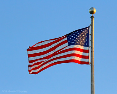 US Flag at Roosevelt Park in Oyster Bay,NY.