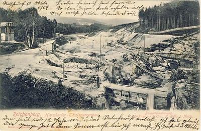 Stavba prehrady_1904