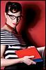 """""""Bookworm""""<br /> <br /> Model<br /> Liz Pomerey"""