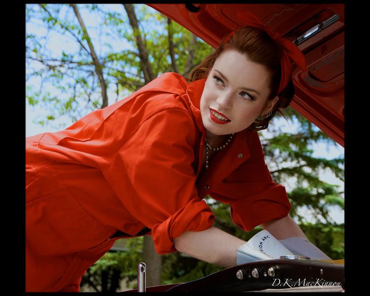"""Red Mechanic""<br /> <br /> Model<br /> Liz Pomerey"