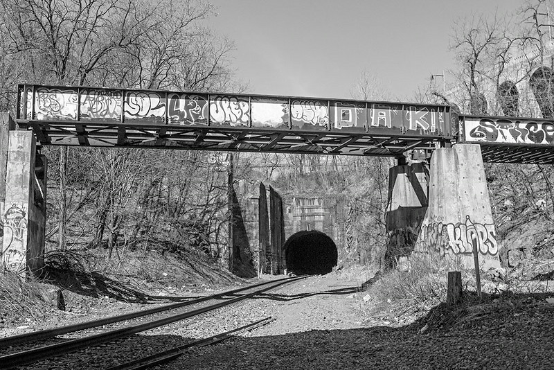 Abandoned Rail Trestle and Long Dock Tunnel Portal<br /> ©2014 Peter Aldrich