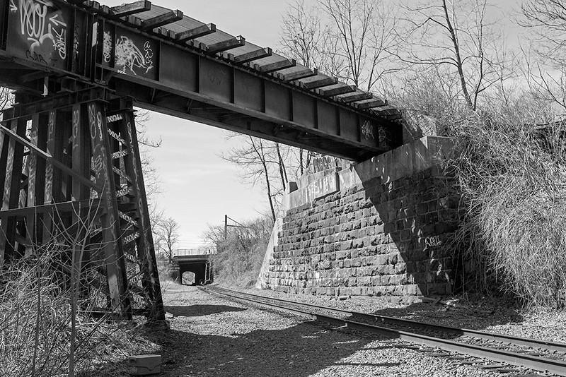 Abandoned Rail Line Over National Docks Freight Line<br /> ©2014 Peter Aldrich