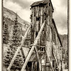 "Yankee Girl was one of the few vertical shaft mines in the area with a ""hoist house""."