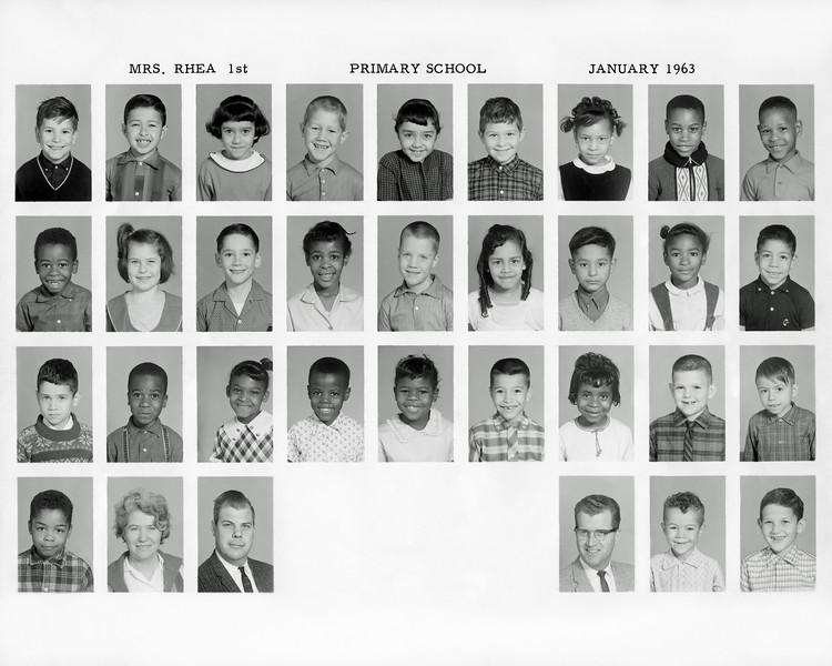 1962-63, Marina (Primary), Grade 1, Mrs. Rhea