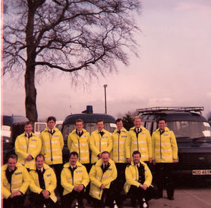 Miner's Strike 1984. Derbyshire police HQ, Ripley.