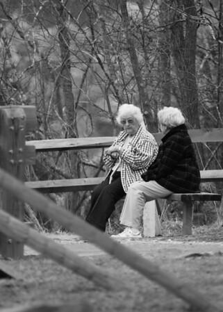 Old ladies black&white