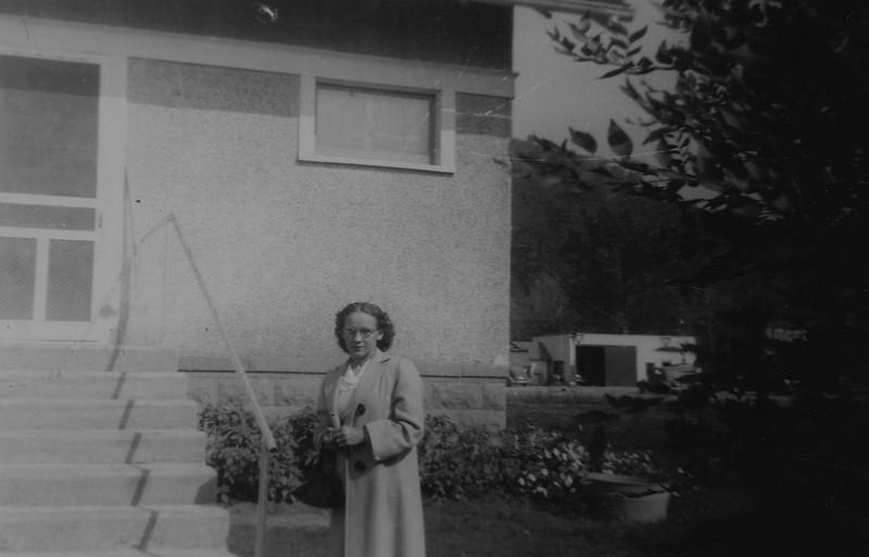 Irene Von Arx- outside house in Hokah, MN