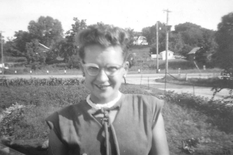 Irene Von Arx, outside the house in Hokah.