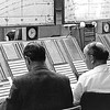 Oceanic Ops Room at Redbrae. Possibly Graham Stewart with Pete Berry. Standing could be Roger Lealand