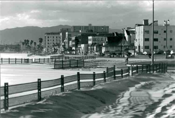 North Beach, a windy day - 1974