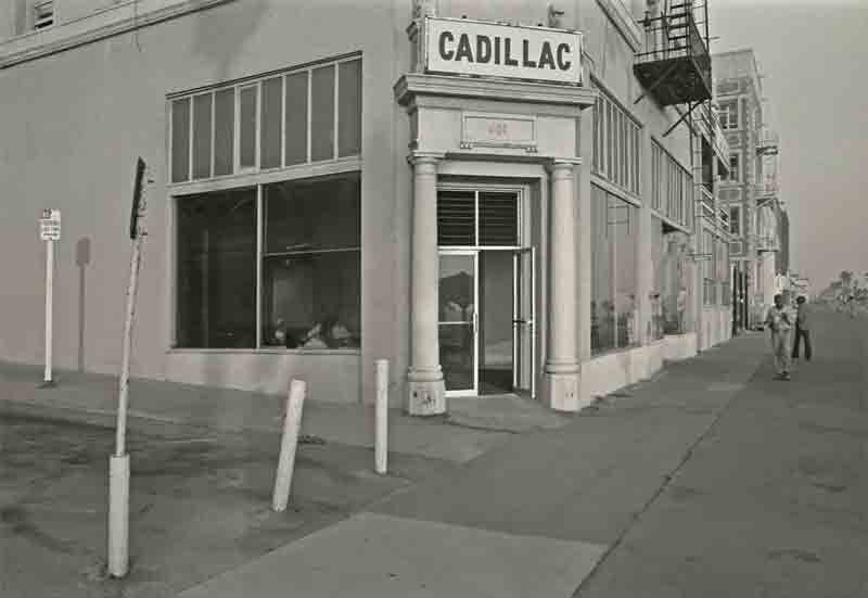 The Cadillac Hotel-1975- the window at left (on Dudley Ave) was bricked up after the 1993 earthquake.